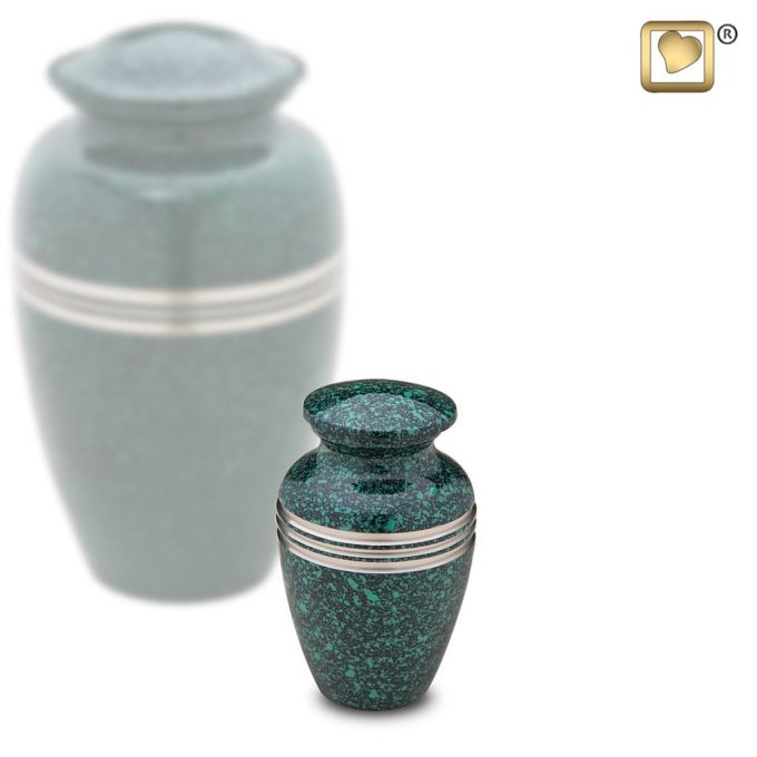 Always and Forever Memorial Products: Speckled Emerald Keepsake Urn
