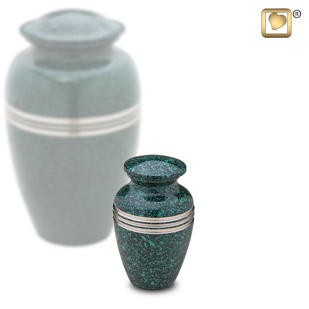 Speckled Emerald Keepsake Urn