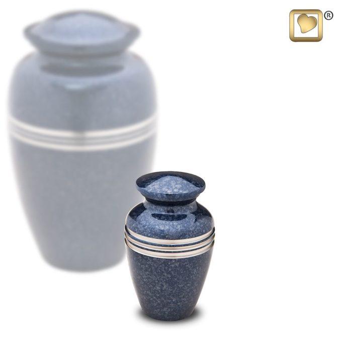 Always and Forever Memorial Products: Speckled Indigo Keepsake Urn