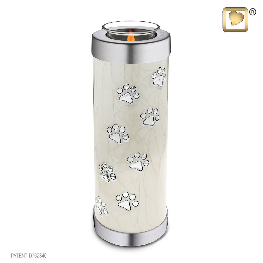 Pet Pearl Tall Tealight Urn