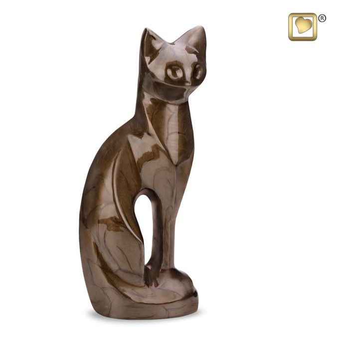 Always and Forever Memorial Products: Bronze Cat Urn
