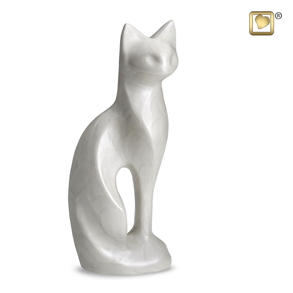 Pearl Cat Urn