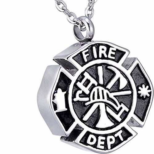 Always and Forever Memorial Products: Fire Fighter Urn Pendan