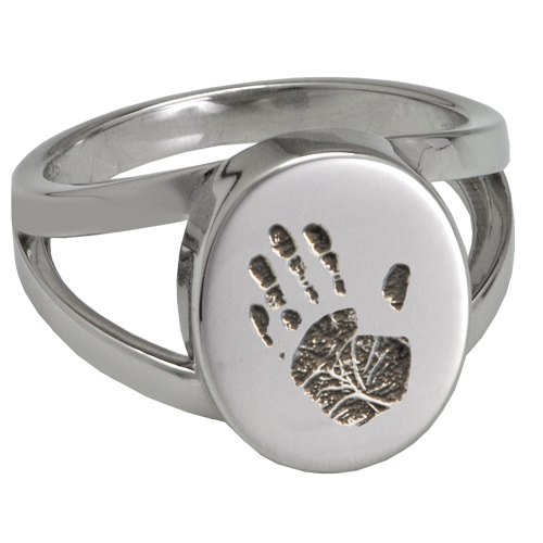 Engraved Baby Hand On Ring
