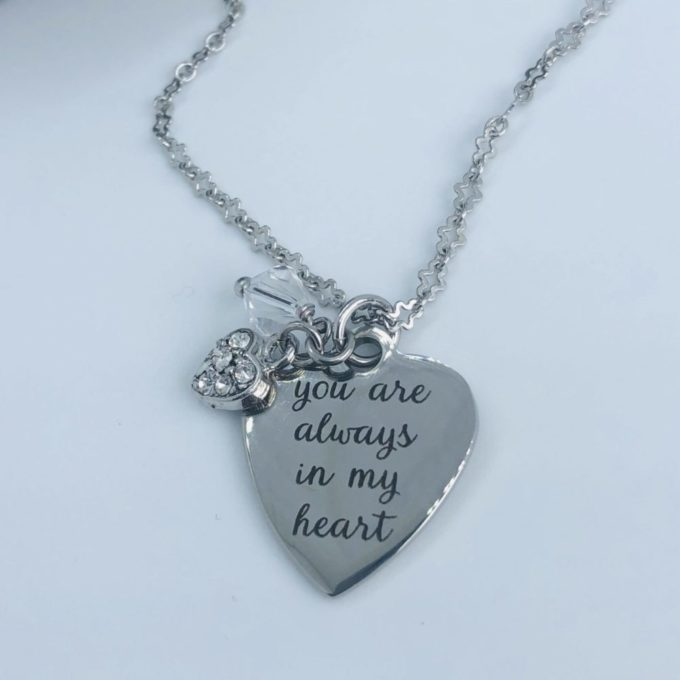 Always and Forever Memorial Products: Always In My Heart Necklace