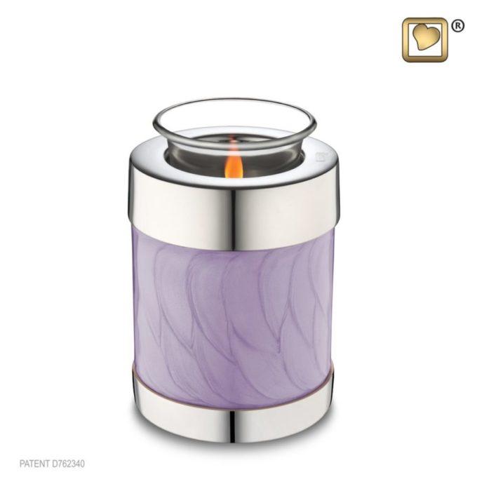 Lavender Tealight Cremation Urn