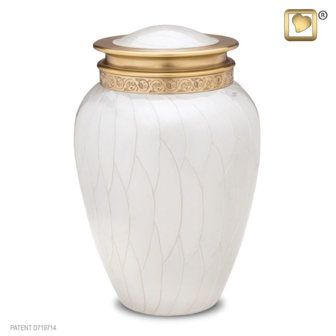 Always and Forever Memorial Products: Blessing Pearl Gold Urn