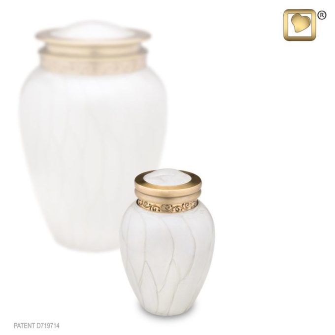 Blessing Pearl Gold Keepsake Urn