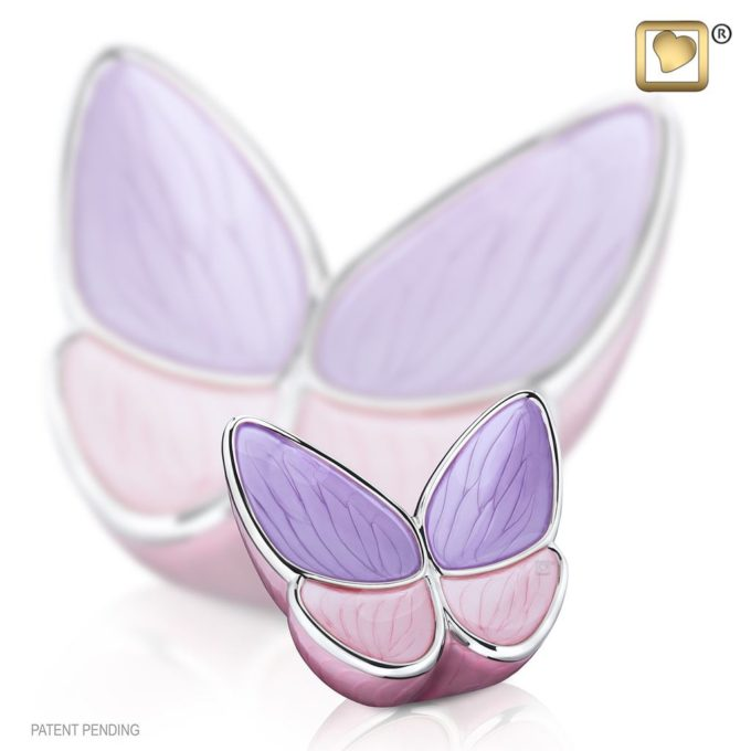 Lavender Butterfly Keepsake Urn for Ashes