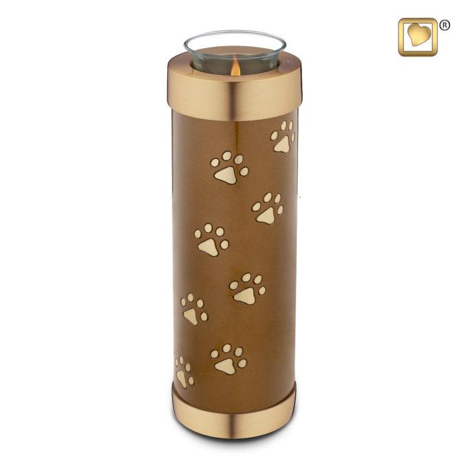 Bronze Tall Tealight Pet Urn
