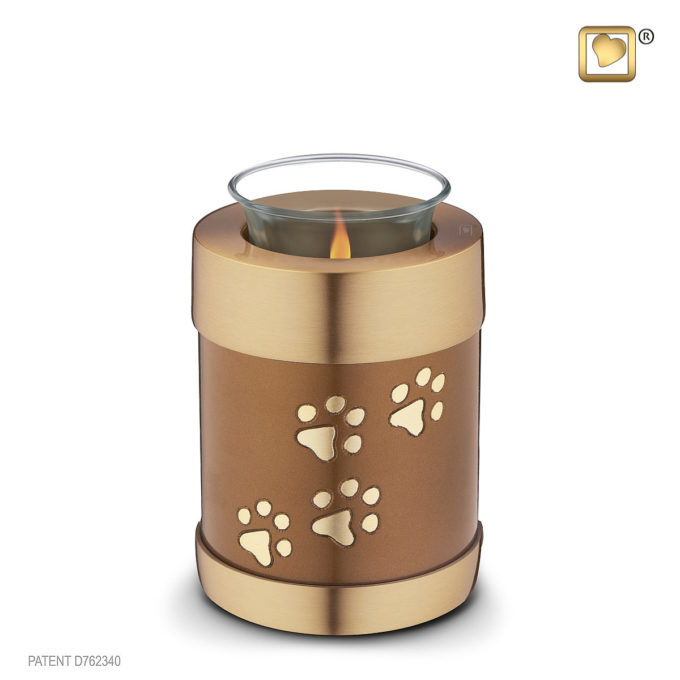 Always and Forever Memorial Products: Bronze Tealight Pet Urn