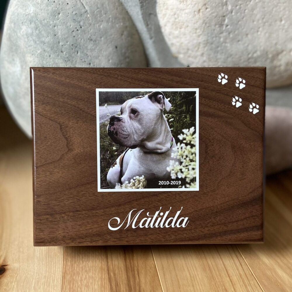 Walnut Pet Memento Box