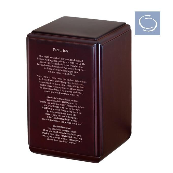 Provincial Cherry Urn Engraved Footprints Poetry