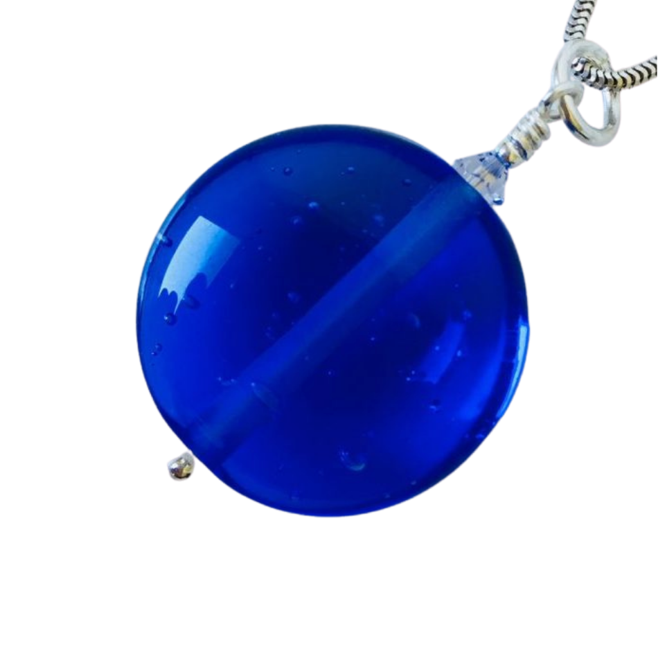 Classic Glass Pendant – Deep Ocean Blue
