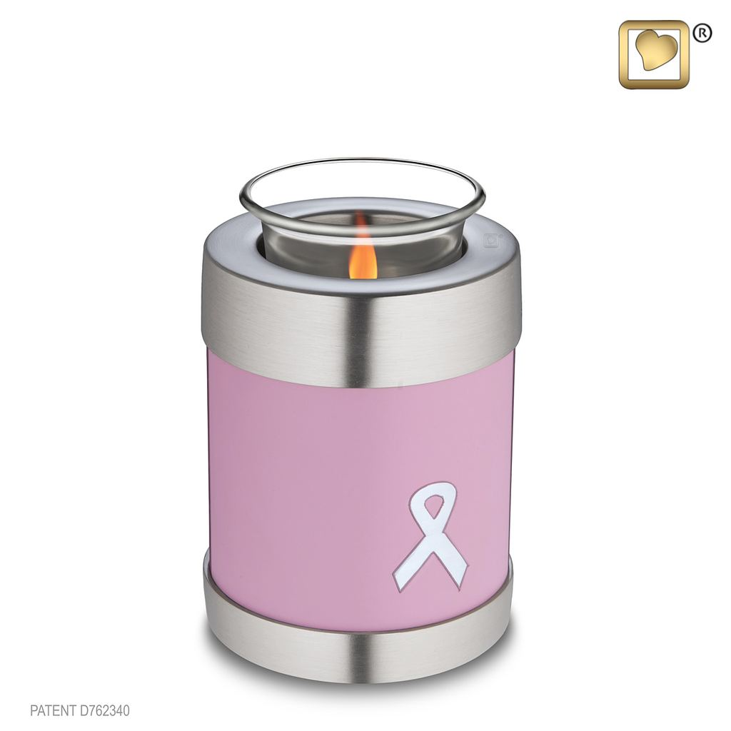 Awareness Pink Tealight Urn Small