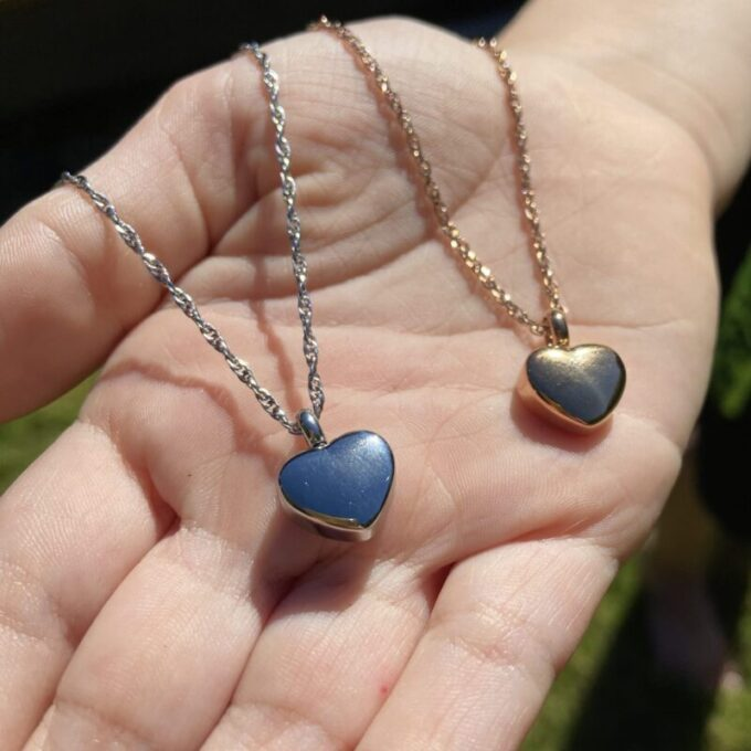 Always and Forever Memorial Products: Mini Heart Pendants