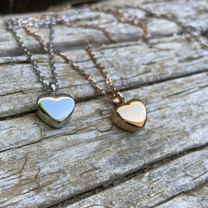 Always and Forever Memorial Products: Mini Heart Cremation Pendants