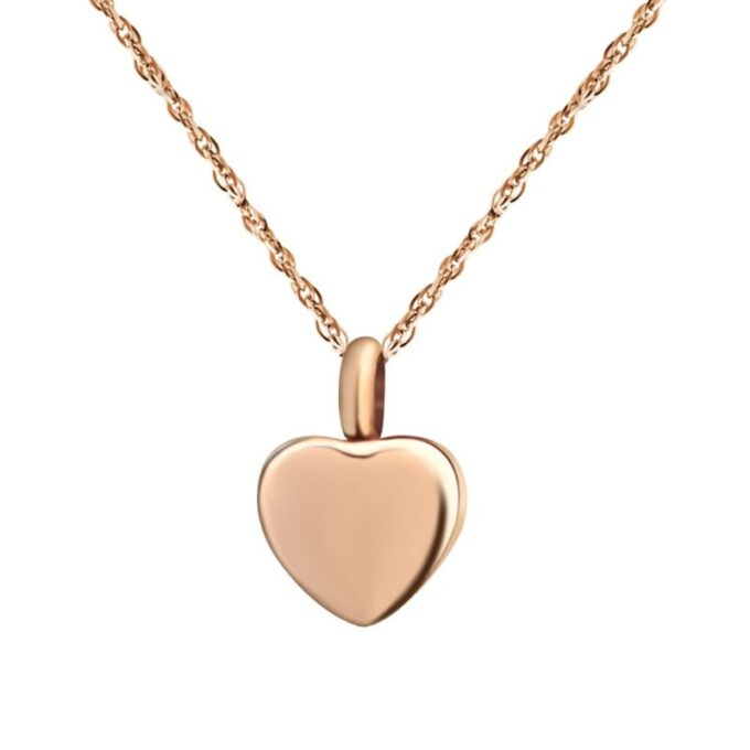 Always and Forever Memorial Products: Rose Gold Mini Heart