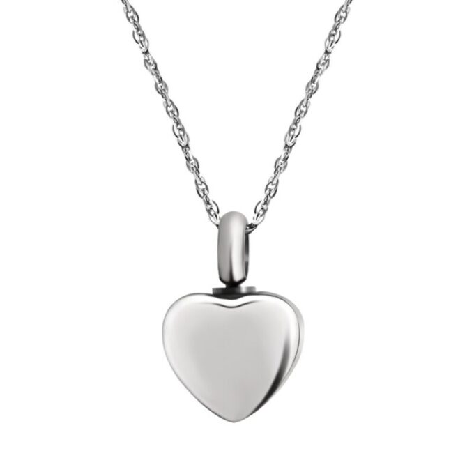 Silver Mini Heart Ash Pendant