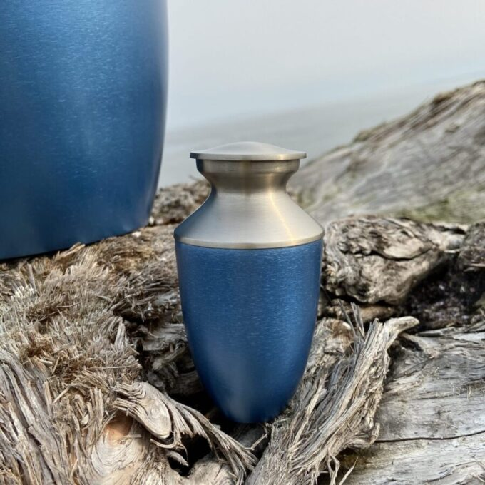 Always and Forever Memorial Products: Monterey Blue Keepsake Urn