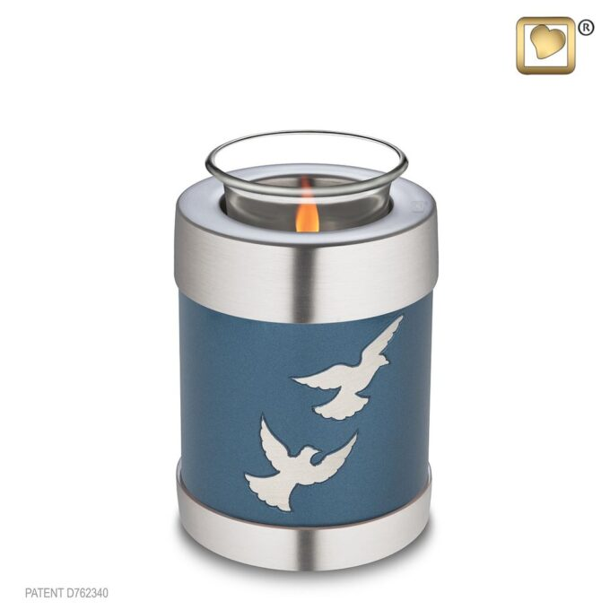 Always and Forever Memorial Products: Divine Flying Doves Tealight Urn