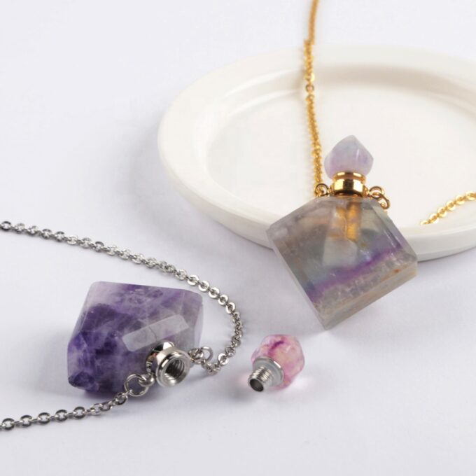 Always and Forever Memorial Products: Fluorite Crystal Silver
