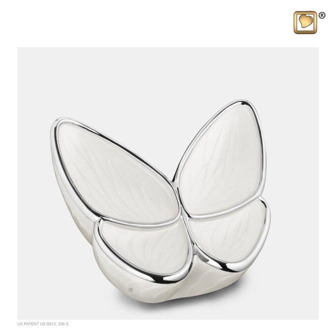 Always and Forever Memorial Products: Wings Of Hope Pearl Small