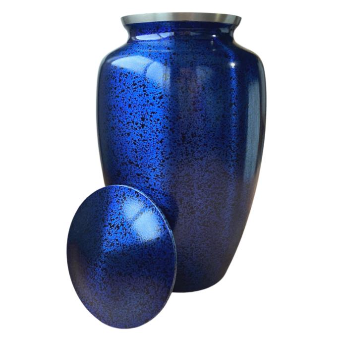 Royal Blue Brass Urn