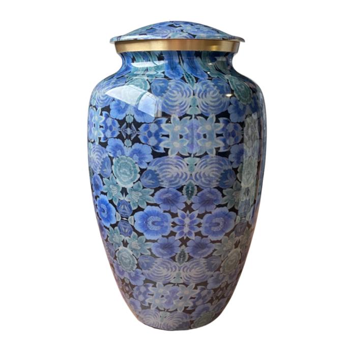 Cloisonne Blue Brass Urn