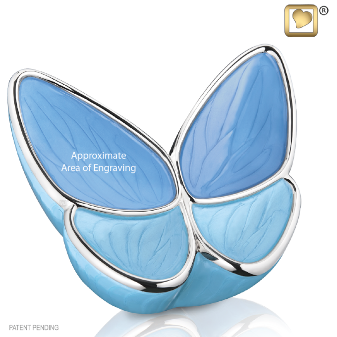 Wings Of Hope Blue Butterfly Urn