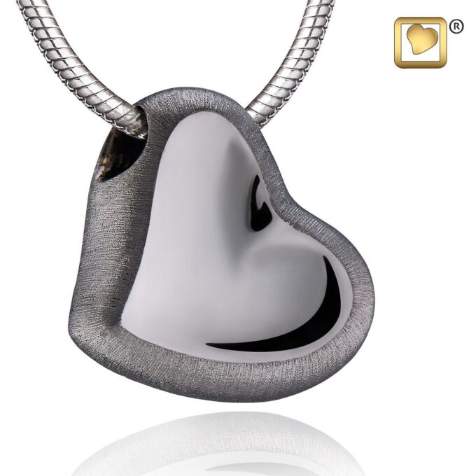 Always and Forever Memorial Products: Leaning Heart Pendant