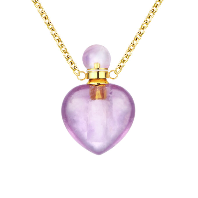 Always and Forever Memorial Products: Purple Crystal Heart Pendant