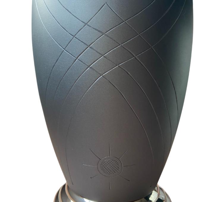Twilight Matte Black Brass Urn