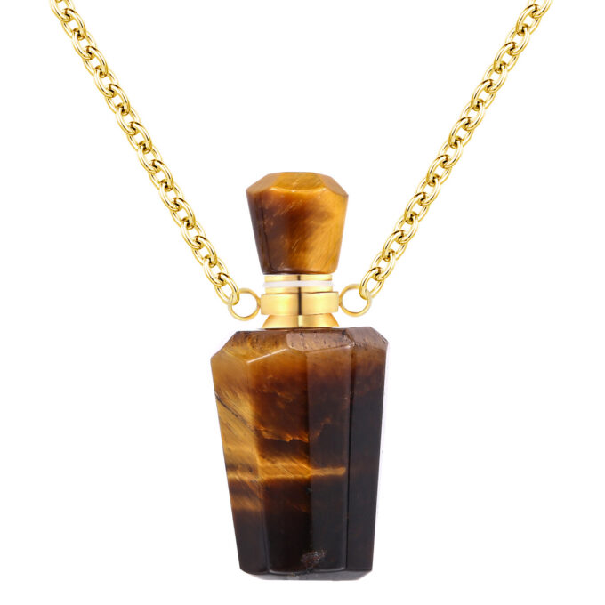 Tiger Eye Crystal Bottle Pendant