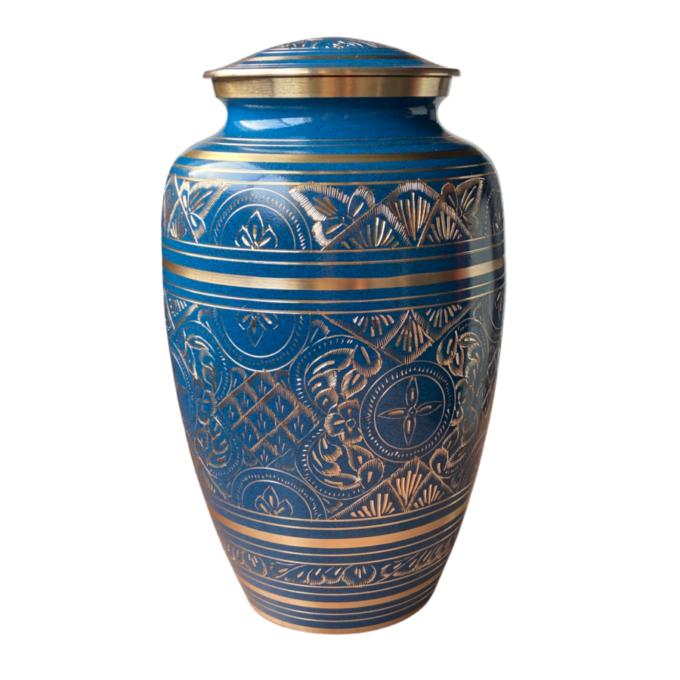 Blue-Radiance-Brass-Urn