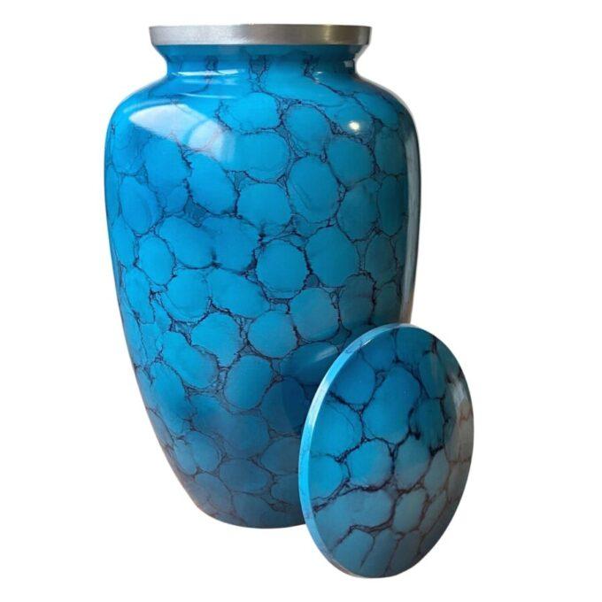 Blue Aluminum Cremation Urn