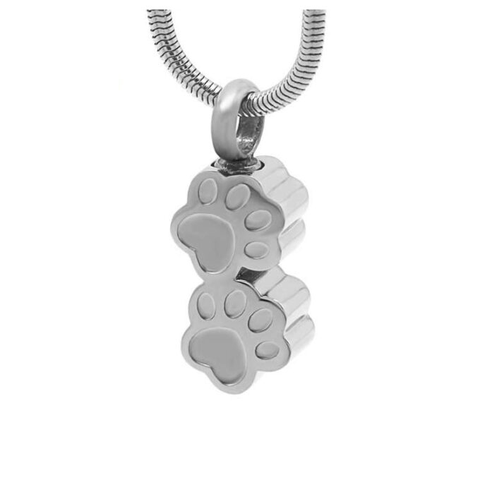 two-silver-paws-cremation-pendant