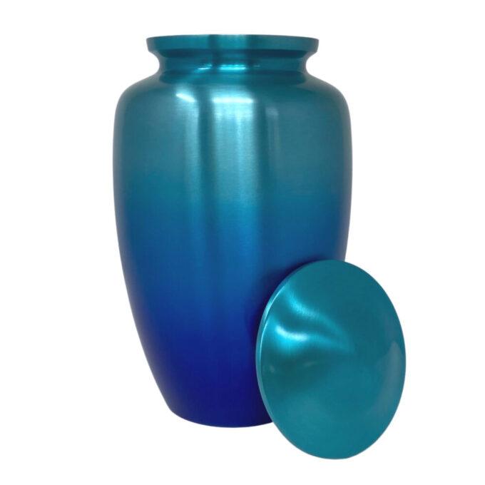 blue-ombre-aluminum-urn-open