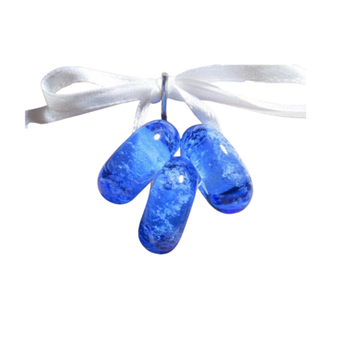 Pandora Ash Infused Bead Dark Blue