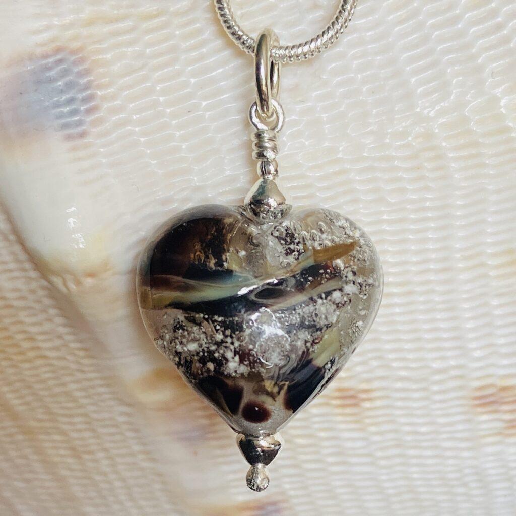 Brindle Glass Heart