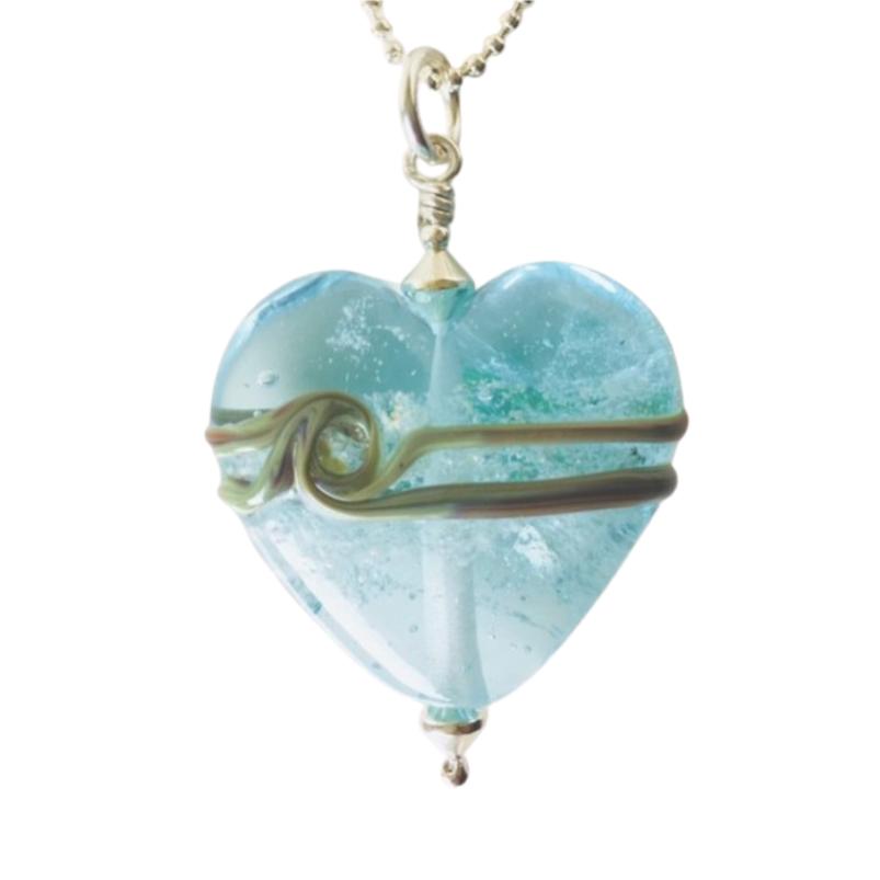 Classic Heart Glass Pendant