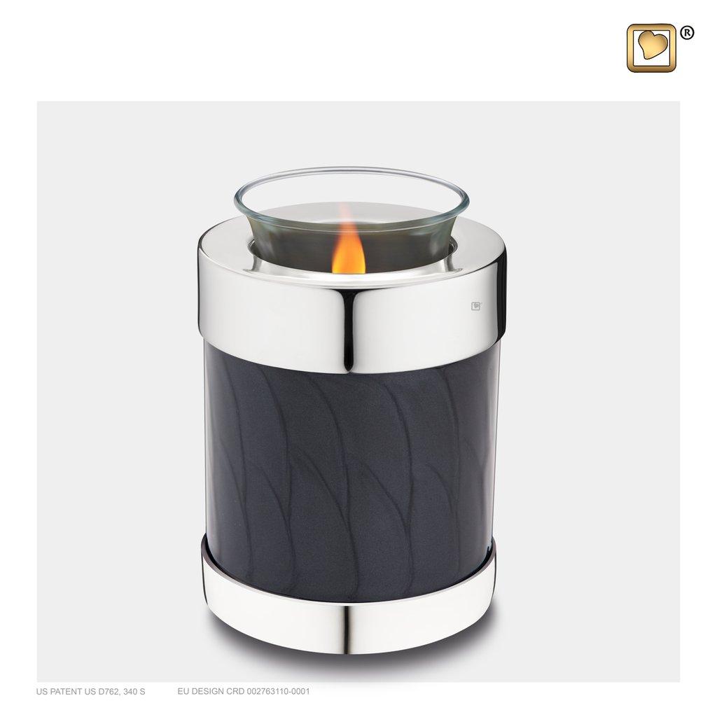 Midnight Pearl Tealight Urn