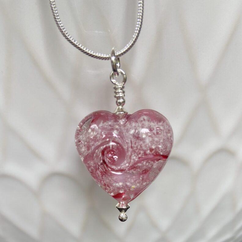 Pink Mini Glass Heart