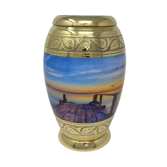 Always and Forever Memorial Products: Sunset Brass Urn