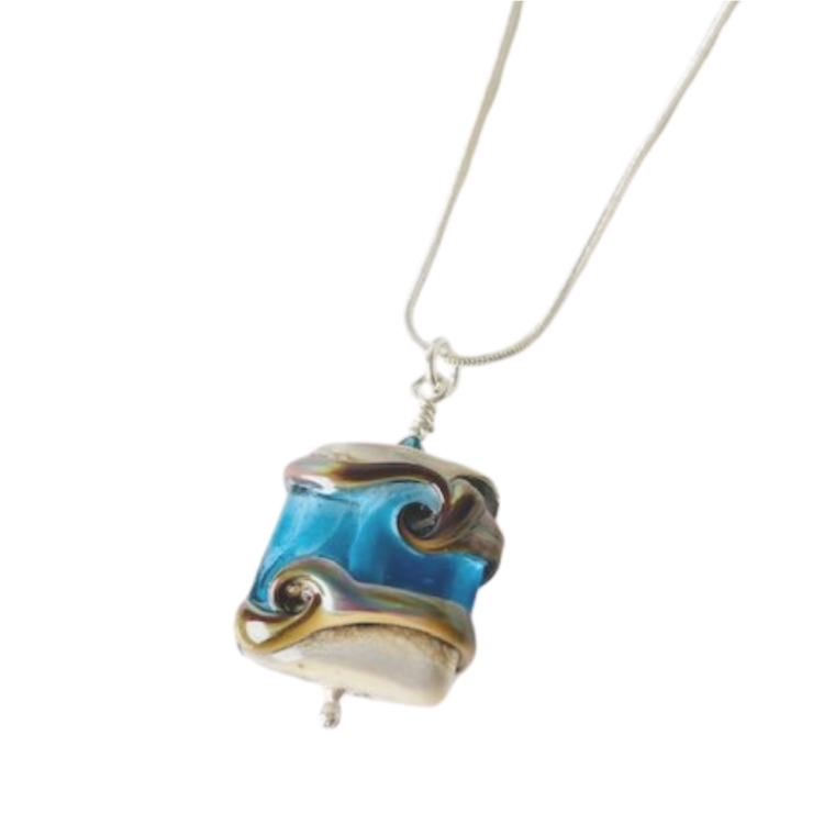 Sea Of Tranquility Glass Bead