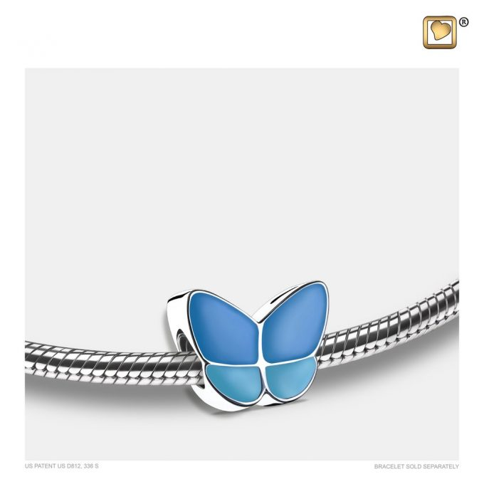 Always and Forever Memorial Products: Wings Of Hope Bead Blue