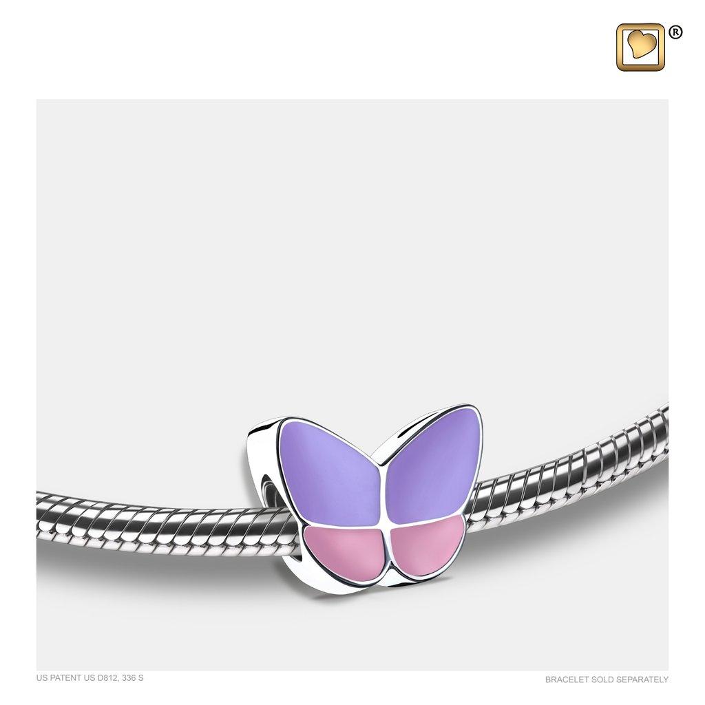 Wings Of Hope Lavender Bead