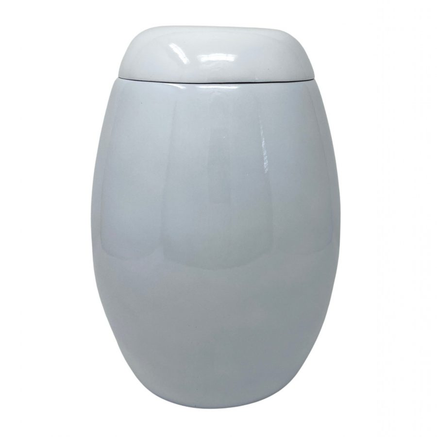 White Fibreglass Urn