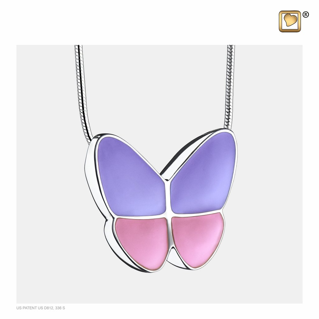Wings Of Hope Lavender Pendant