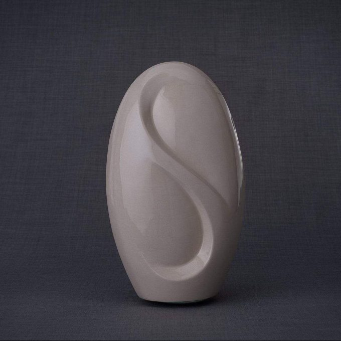 Always and Forever Memorial Products: Eternity Ceramic Urn Transparent